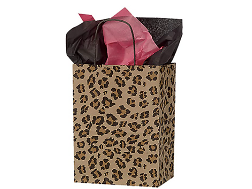 MEDIUM LEOPARD PRINT RECYLABLE GIFT BAGS
