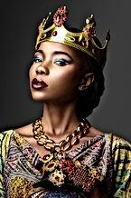 Portrait of a dark-skinned girl in a cro