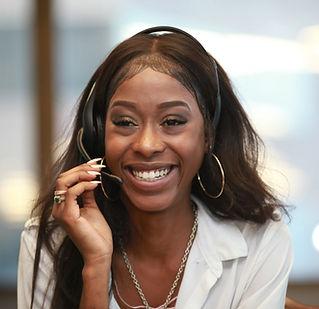 african american happy customer service