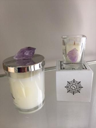 Amethyst Stone - Lavender Votive