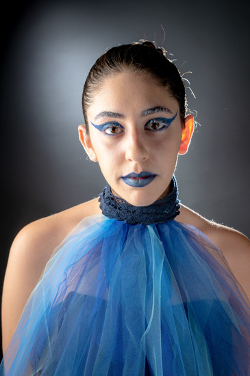 Image represents make-up and hair by Pauline Bouissou