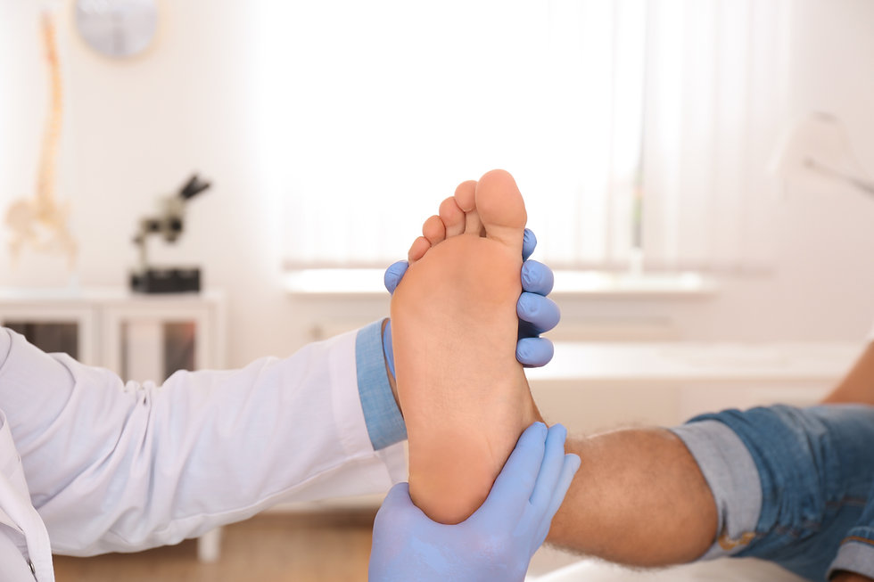 Foot assessment for custom foot Orthotic device