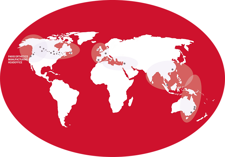 Paris Provider Map of the world, Canada, UK, Gibralter, Isreal, Australia and Hong Kong