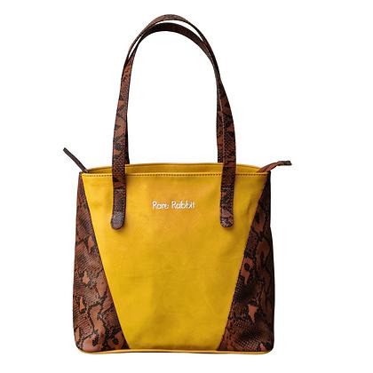 Women Snakeprint Leather Handbag
