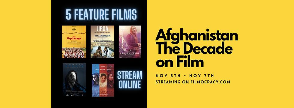 Afgahnistan Film Series, 5 Films Streaming Nov 5-7th