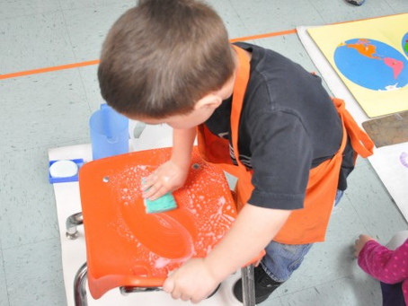 Why Does Montessori Teach My Preschool Child To Clean Tables?
