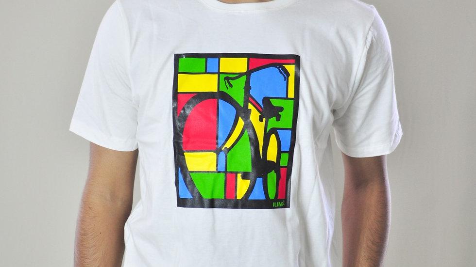 Camiseta Algodão Menegotti Estampa Colorida