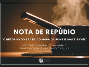 """""""O retorno do Brasil ao Mapa da Fome é inaceitável."""""""