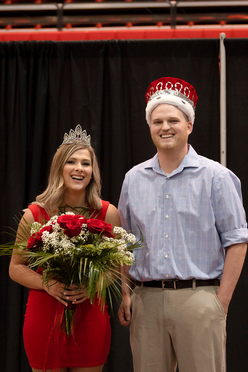 2019 Homecoming king and queen: Brenna Dyke and Zach Thompson. Photo by Shalom Baer.