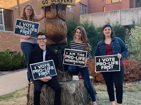 Students for Life club draws publicity around campus