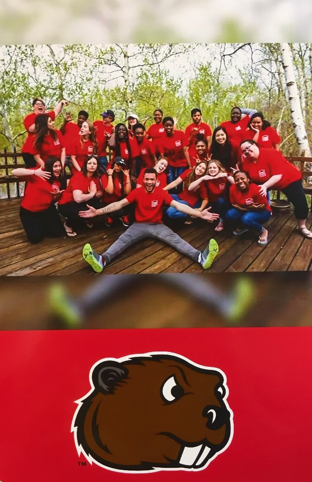 Minot State student orientation leaders. Submitted photo.