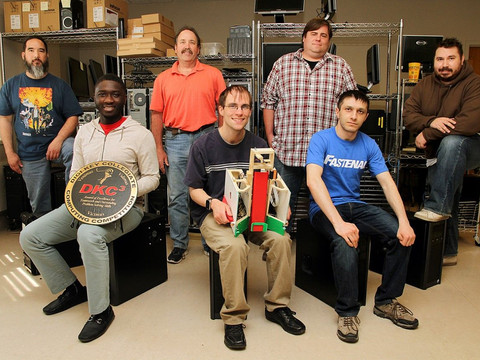 Students win first in robotics contest