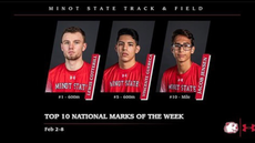 Track and field athletes rank nationally