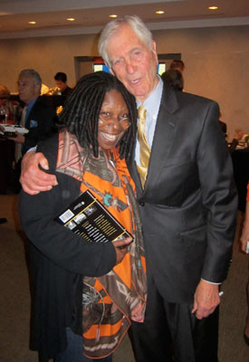 Sonny Fox and Whoopi Goldberg at the Paley Center