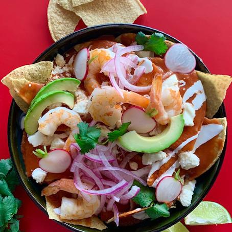 Chipotle Shrimp Chilaquiles