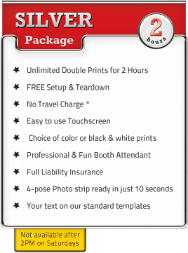 Silver 2 Hour Photo Booth Party Package