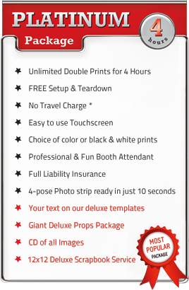 Platinum 4 Hour Photo Booth Party Package