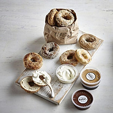 12 classic bagel's + spread