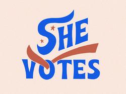 She Votes Graphic