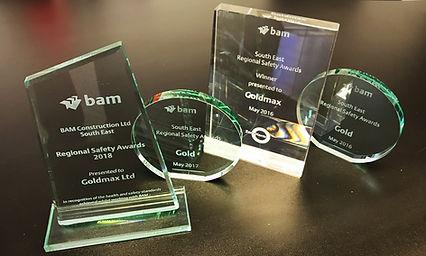 Goldmax Safety Awards Bam Construct UK Regional Safety Awards GOLD