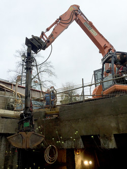 Carlyle  basement piling excavation