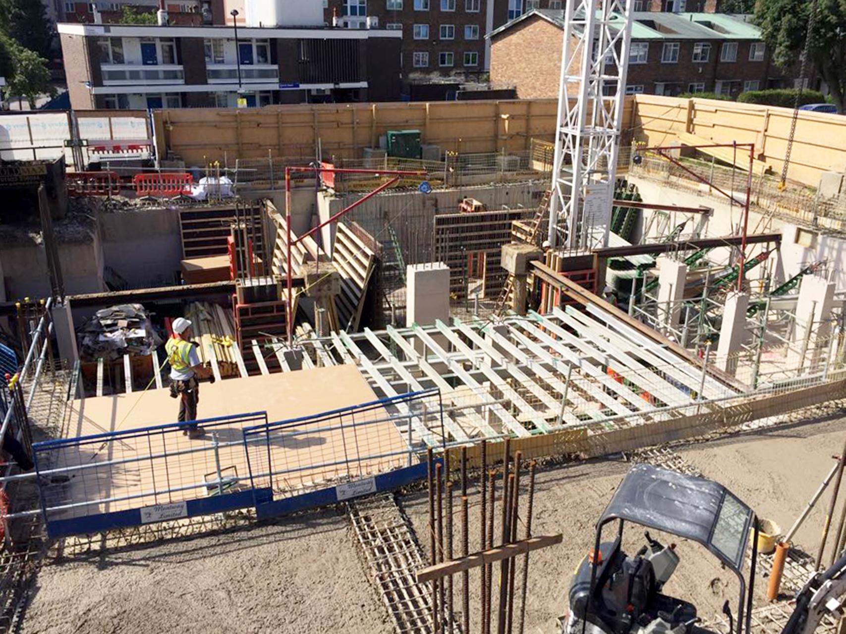 London Basement RC Frame