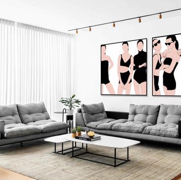 תכנון מחדש, עיצוב פנים כולל והרחבת קומת גלריה  לדירת דופלקס בשטח של כ-220 מר המחולקים בשני מפלסים+40 מר מרפסת ברמהש