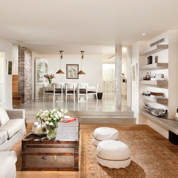 """אדריכלות ועיצוב פנים לשיפוץ יסודי משלב השלד.  בית פרטי, צהלה ת""""א. 470 שטח מגרש, בנוי 330 מ""""ר ב-4 מפלסים"""