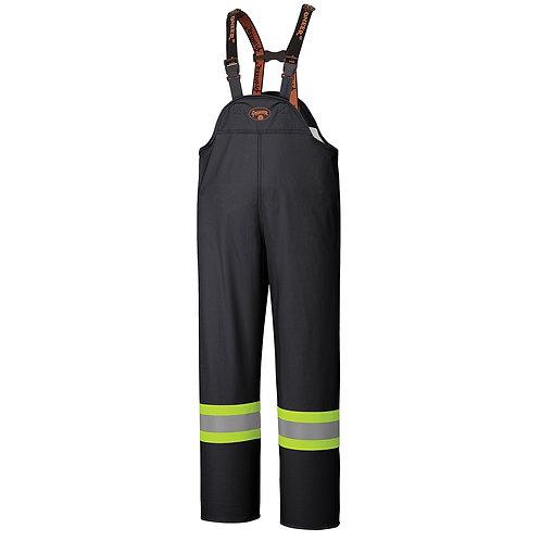 FR Waterproof Safety Bib Pants - PU Stretch