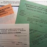 Documentación histórica de la biblioteca conservada en el Archivo del CEAG.