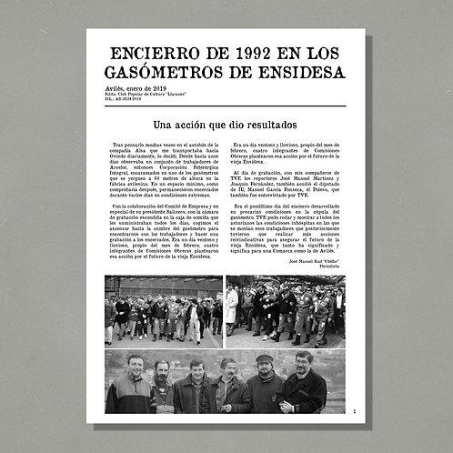 Encierro de 1992 en los gasómetros de ENSIDESA