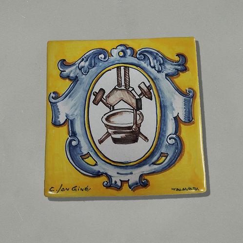 Azulejo de colección ENSIDESA - Talavera de la Reina