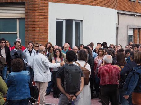 La visita a ENSIDESA reúne a más de 120 personas en torno al patrimonio industrial