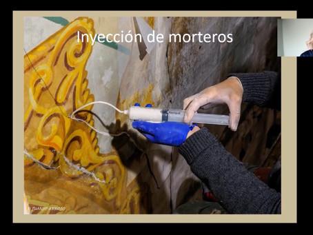 Natalia Díaz-Ordóñez presenta los resultados de la restauración de las pinturas de Villalegre