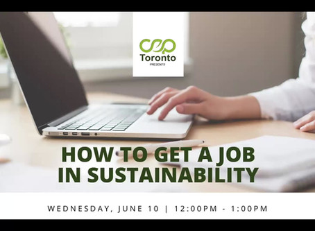 How to Land a Job in Sustainability