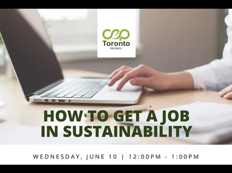 How to Land a Job in Sustainability [Webinar]