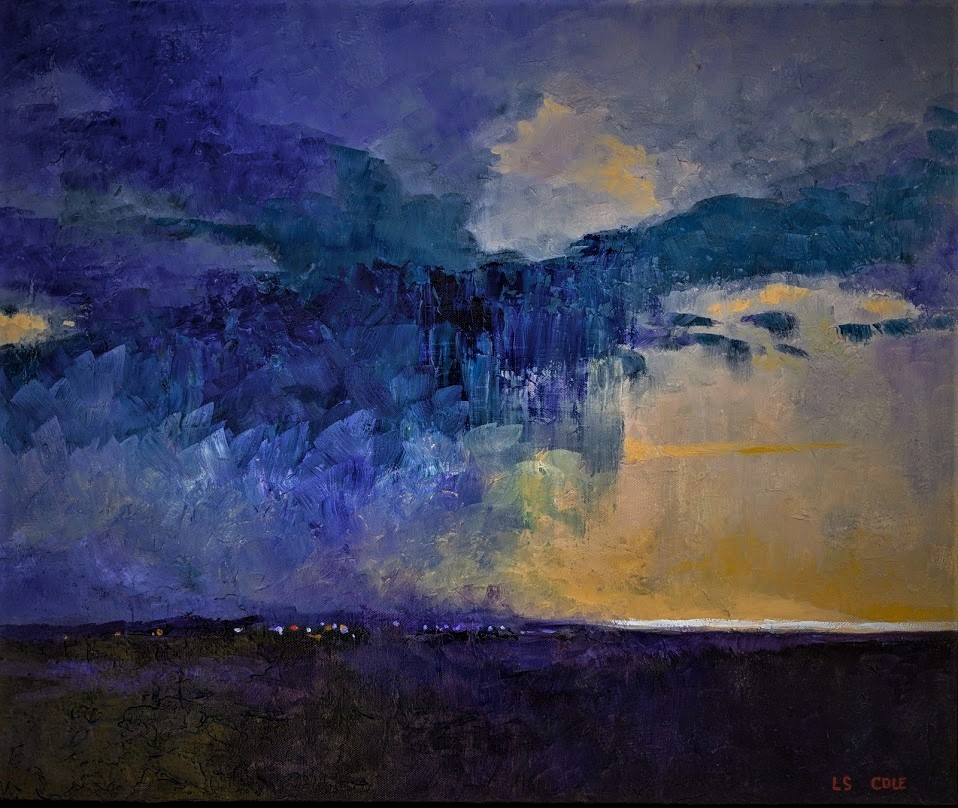 Approaching Nassau in a Storm - SOLD
