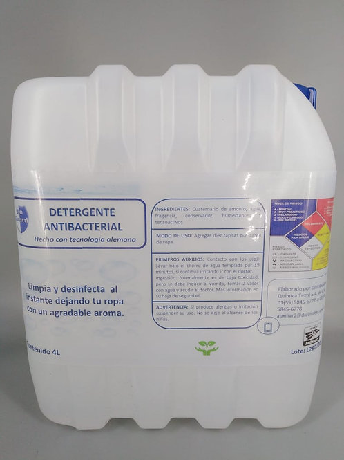 Detergente Líquido Antibacterial  4 L