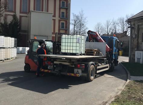 500 litrů dezinfekce obci Vrdy