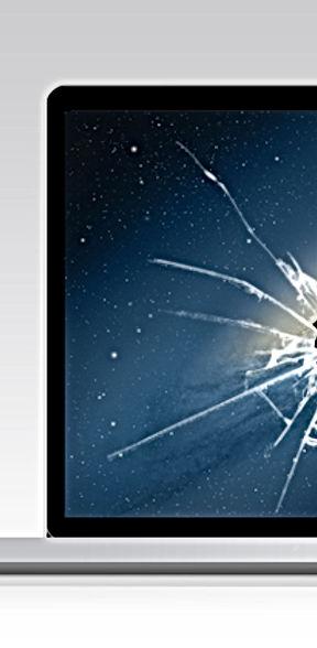 Cracked Macbook Laptop Screen