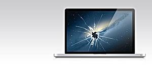 Schermo del computer portatile Smashed