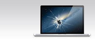 Écran Smashed pour ordinateur portable