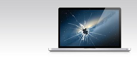 Smashed Laptop-Bildschirm