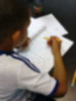 student learning at the learning hub tuition centre with a private tutor