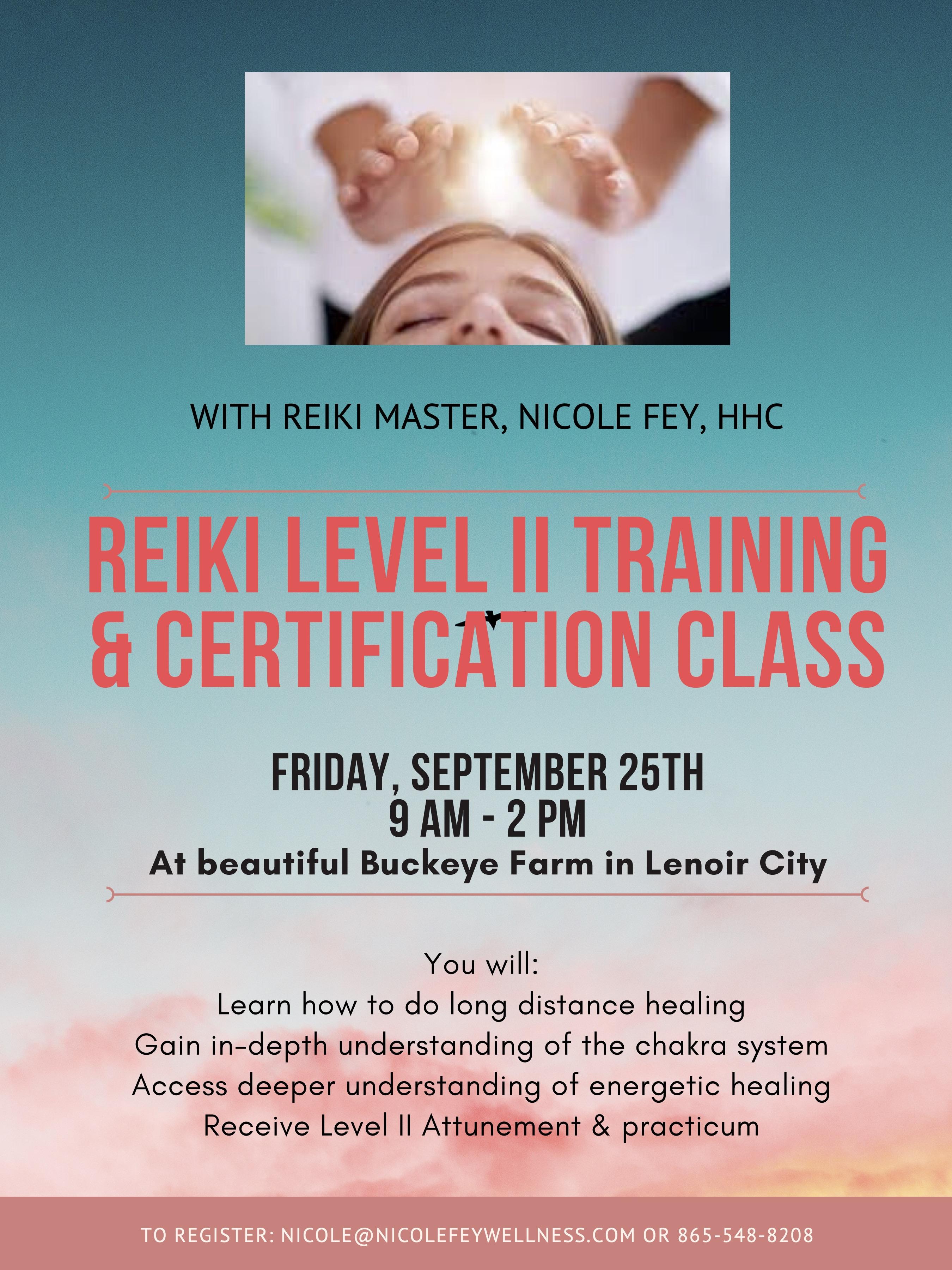 Reiki Levle II Training