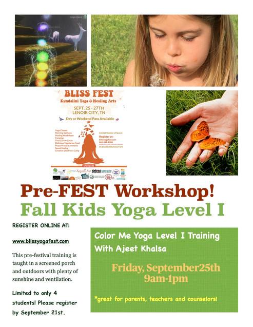 Color Me Yoga PRE-FEST Workshop with Aje