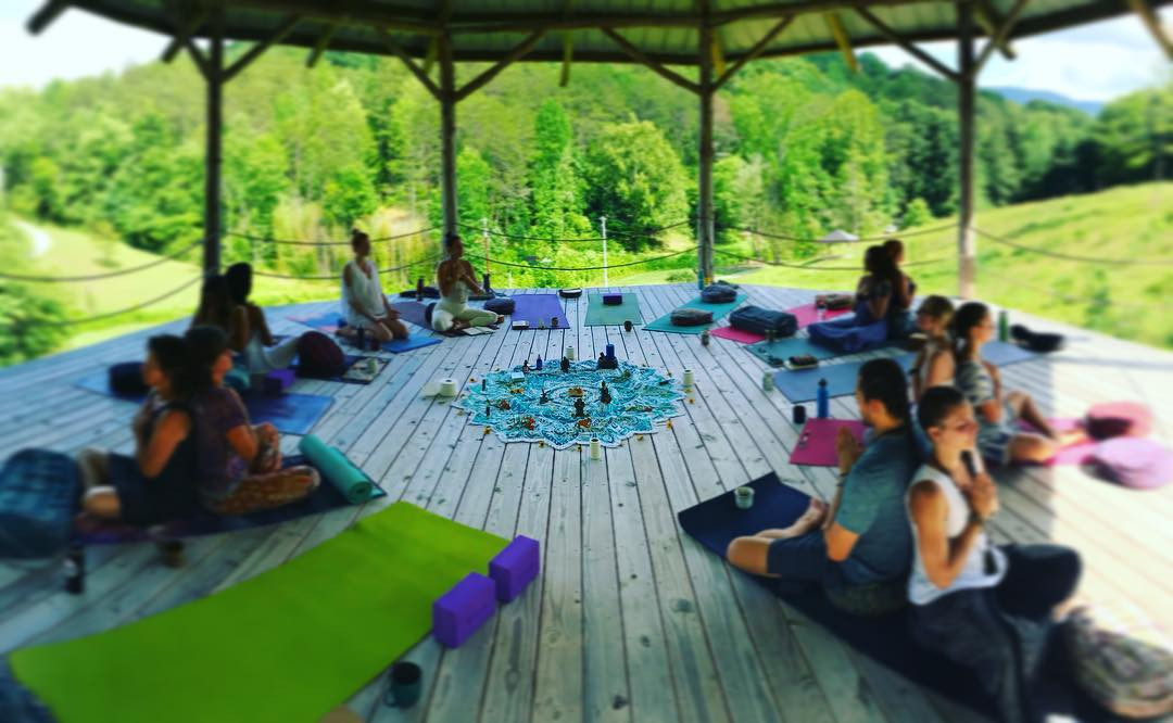 Yoga Class in the Shala