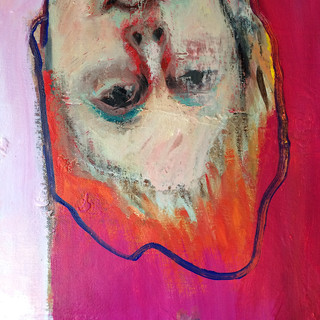 Red and pink figurative detail
