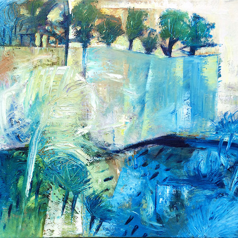 """""""Cedar Creek"""" An abstract landscape of a pretty creek and surrounds"""