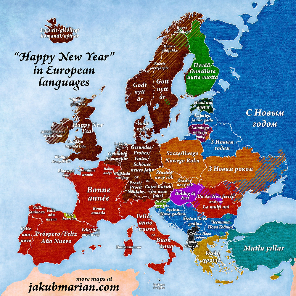 how to say happy new year in european languages